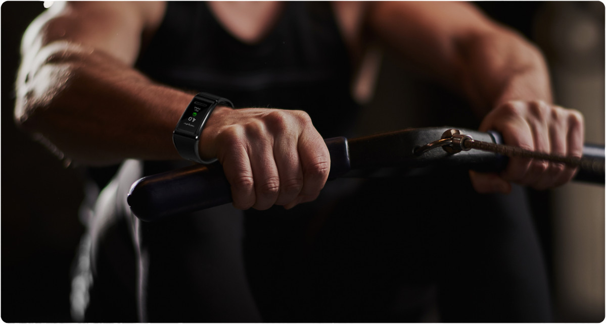 Huawei band 4 pro sports rower